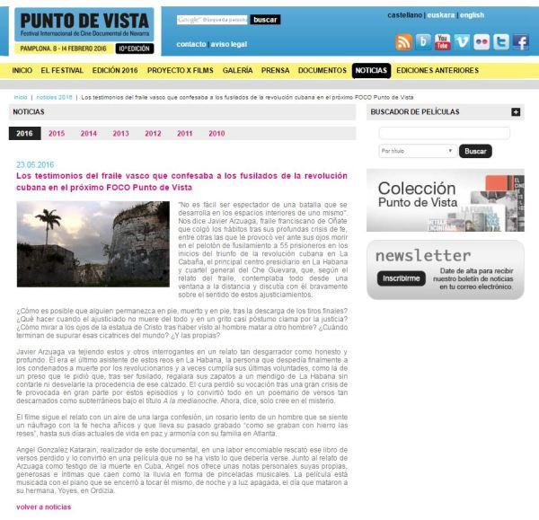 Web punto de vista A LA MEDIANOCHE